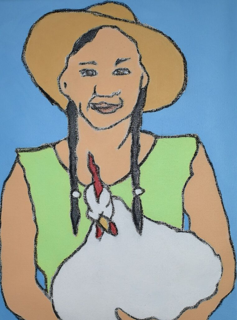 Woman With Chicken.