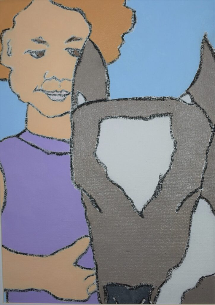 Girl and Cow.