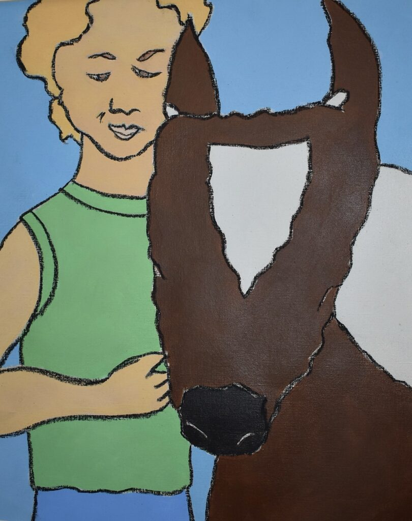 Girl with Cow 2.